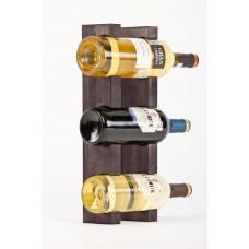 Sienas statīvs 3 vīna pudelēm