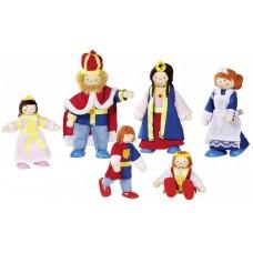Karaliskā leļļu ģimene - 6 lelles